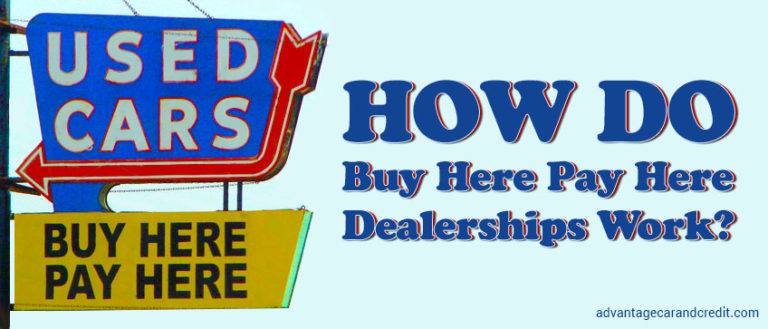 How Do Buy Here Pay Here Dealerships Work?